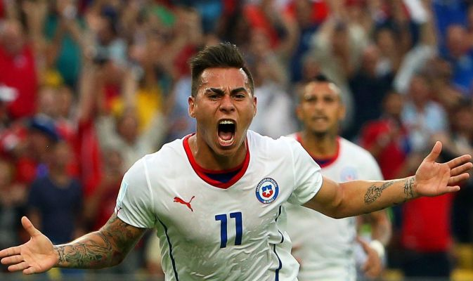 «Napoli, Edu Vargas nel mirino dell'Arsenal»