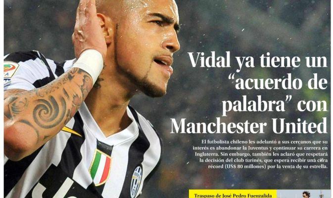 Calciomercato Juve, in Cile: «Vidal-United, c'è l'accordo verbale»