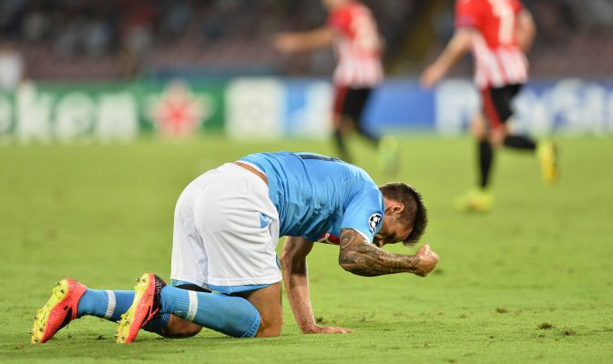 Champions, Napoli fuori! Hamsik, poi il crollo: 3-1
