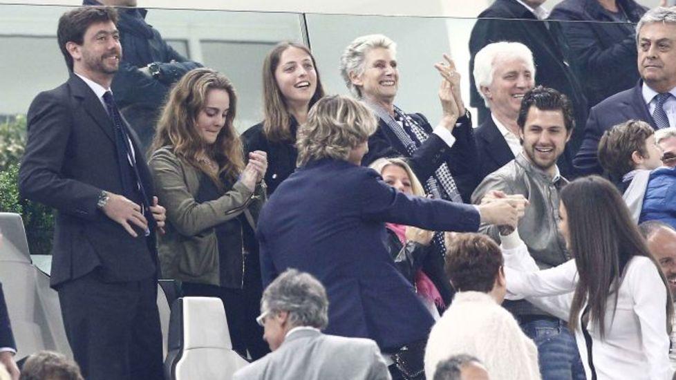 FOTO Juve-Lazio, la famiglia Agnelli festeggia in tribuna