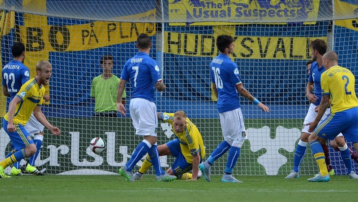 Italia U21, non basta Berardi. Rosso a Sturaro, vince la Svezia