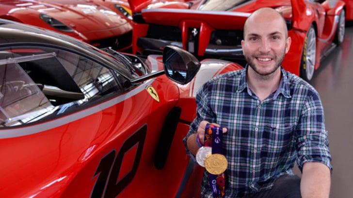 Campriani, dall'oro olimpico alla scrivania in Ferrari
