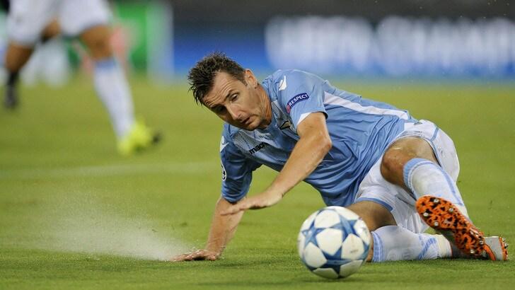 Lazio, sospetta lesione al flessore per Klose