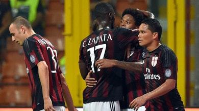 Milan-Empoli 2-1: Bacca-Luiz Adriano, ma il gioco non c'è