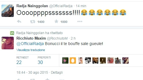 Nainggolan retwitta: Bonucci ha la bocca sporca