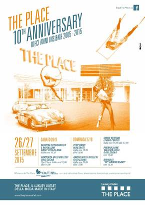 The Place Luxury Outlet di Biella festeggia 10 anni