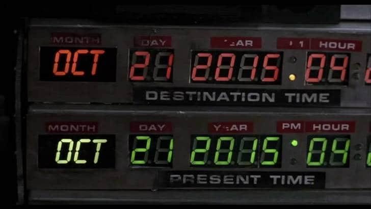 Ritorno al futuro 2, si festeggia il 21 ottobre 2015