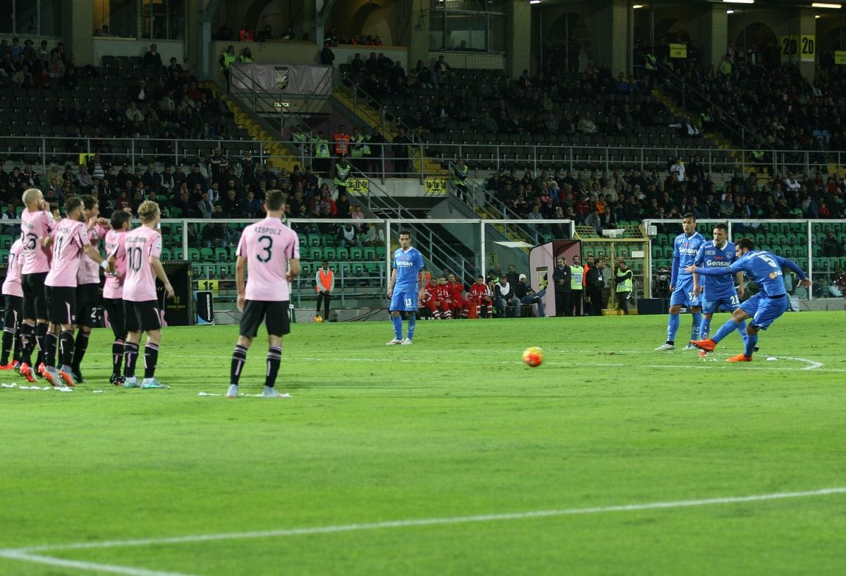 """Palermo-Empoli 0-1: Saponara """"alla Pirlo"""" sbanca il Barbera"""