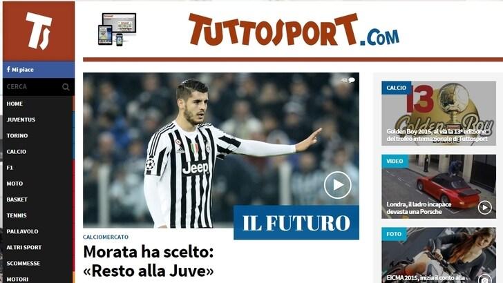 tuttosport.com nella Top Ten dei siti preferiti dalla pubblicità