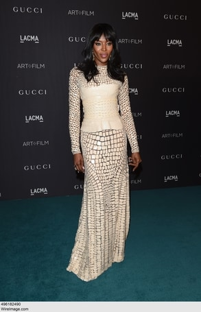 Naomi Campbell in Givenchy Haute Couture by Riccardo Tisci
