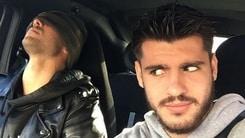 Juventus, Zaza dorme... Morata lo posta su Instagram!