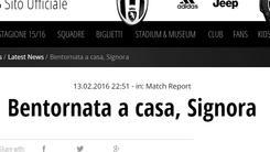 Serie A Juventus, «Bentornata a casa, Signora»