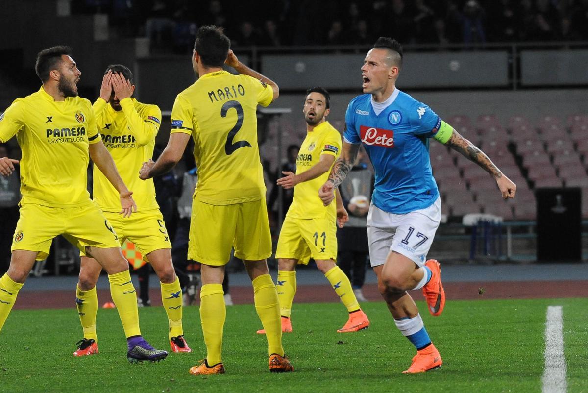 Napoli-Villarreal 1-1: Sarri saluta l'Europa, Hamsik non basta