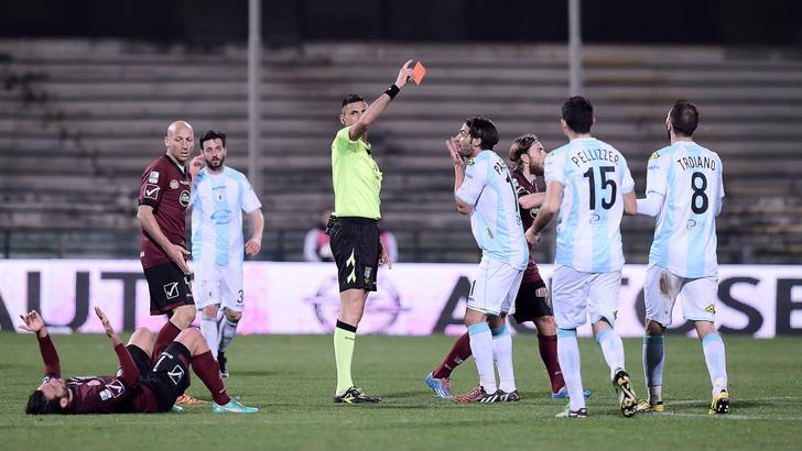 Serie B, Giudice Sportivo: 14 squalificati per la 30^ giornata