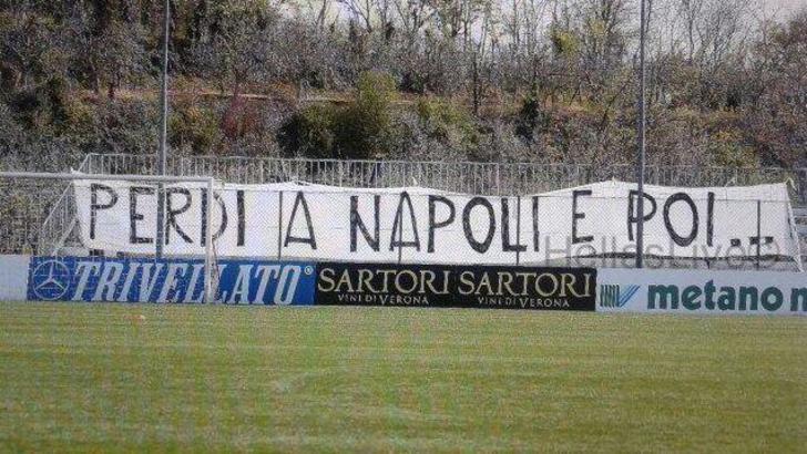 Striscione tifosi Hellas Verona: