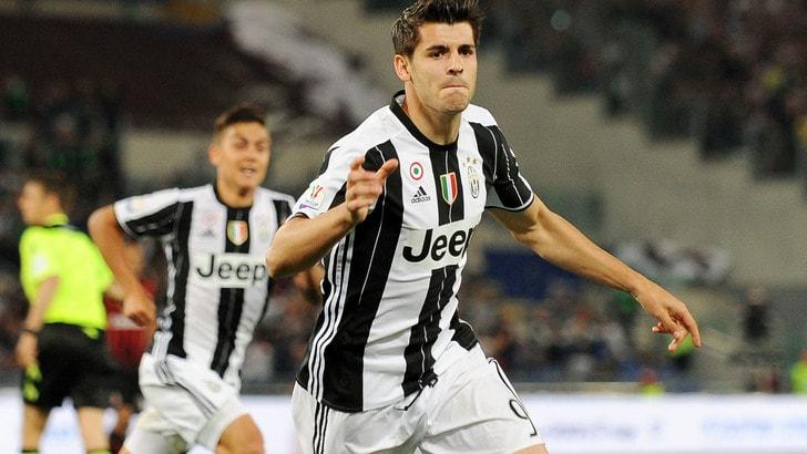Killer Morata entra e stende il Milan. Goduria Juventus: anche la Coppa Italia