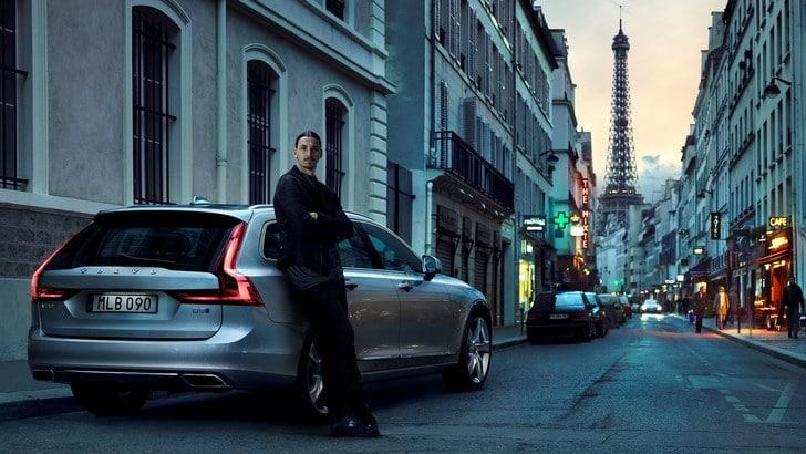 Ibrahimovic agli Europei a bordo della Volvo V90