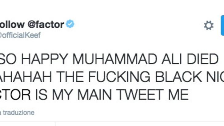 Hackerato il Twitter di Keith Richards: insulti a Muhammad Ali