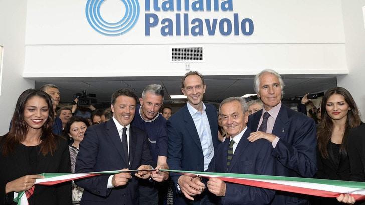 La Fipav inaugura la nuova sede con Renzi e Malagò