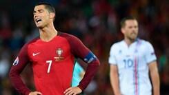 Euro 2016, Ronaldo non la prende bene: «Islanda, cosa festeggi?»