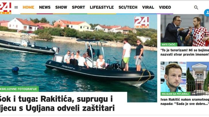 Hooligans assaltano villa di Rakitic, lui fugge in motoscafo