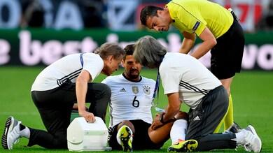 Juventus, ansia per Khedira. Il suo Europeo è già finito