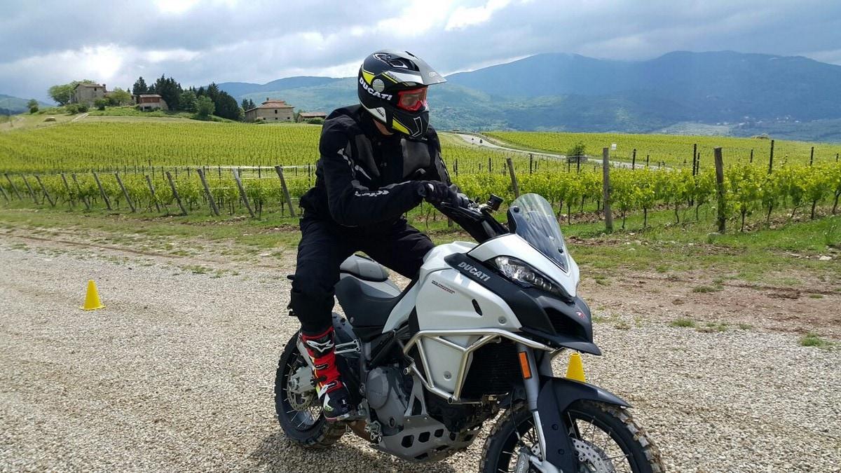 Ducati DRE Enduro, a scuola di off-road con la Multistrada