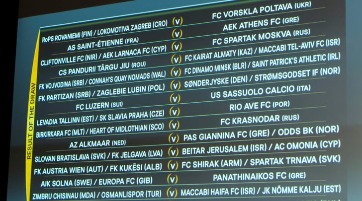 DirettaEuropa League, 2° turno preliminare: segui i match in tempo reale