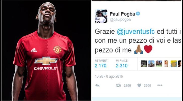 Calciomercato, il Manchester United annuncia Pogba. Il giocatore: «Grazie, Juve»