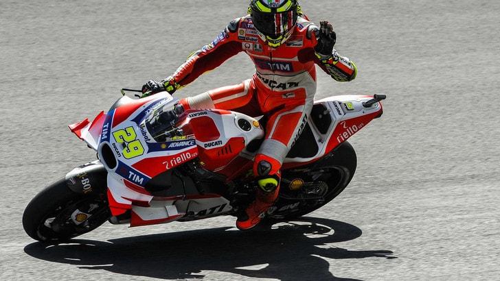 MotoGp Austria, Warm up: Ducati sempre davanti