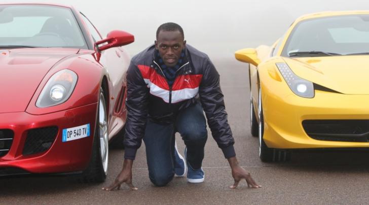 Usain Bolt, il fulmine d'Oro ama le supercar