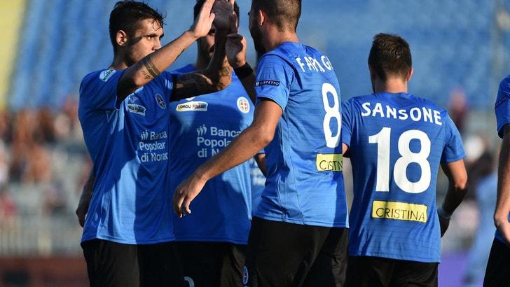 Serie B Novara,col Trapani pari-beffa. Nel finale Ferretti fa 2-2