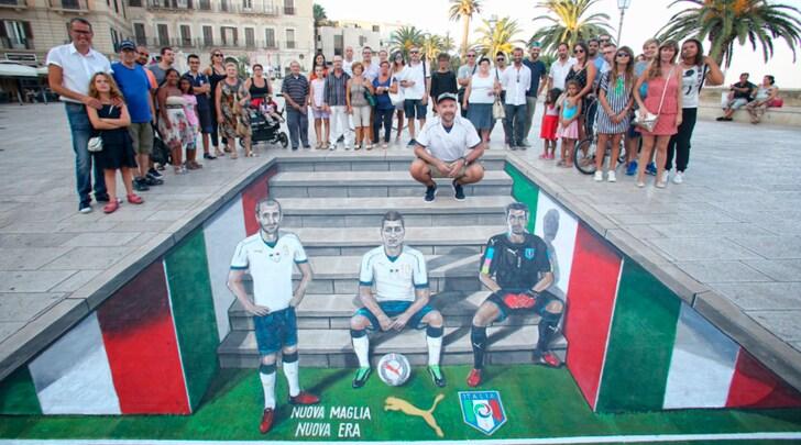 Puma e FIGC. Street Art per il kit da trasferta della Nazionale