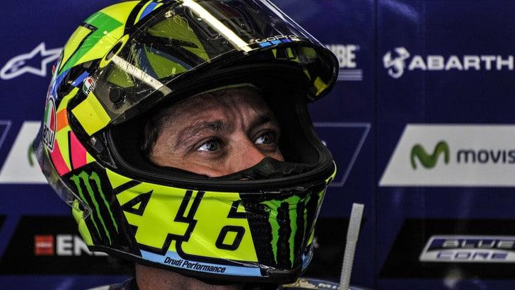 MotoGp Yamaha, Rossi: «Condizioni difficili ma moto ok»