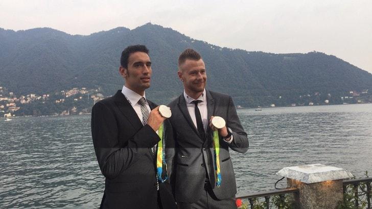 Azzurri, passerella a Cernobbio con l'argento olimpico.