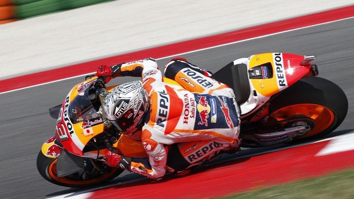 MotoGp, Misano: Marquez più veloce nelle terze libere, Rossi 8°