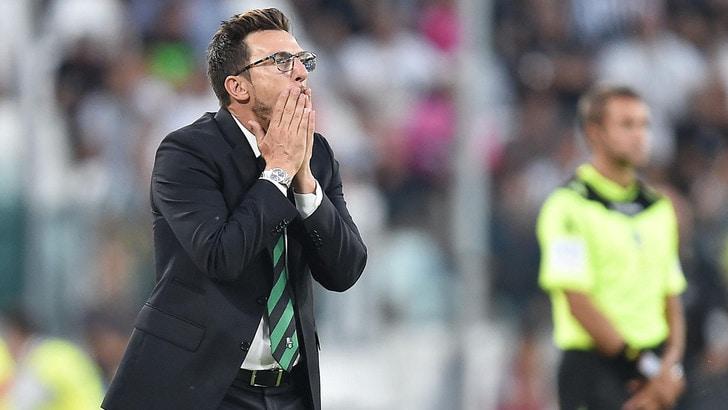 Serie A Sassuolo, Di Francesco: «La Juventus ha meritato di vincere»