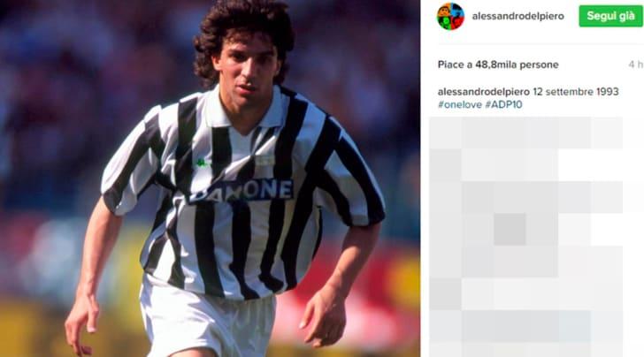 Juventus, 23 anni fa la prima di Del Piero: «One love»