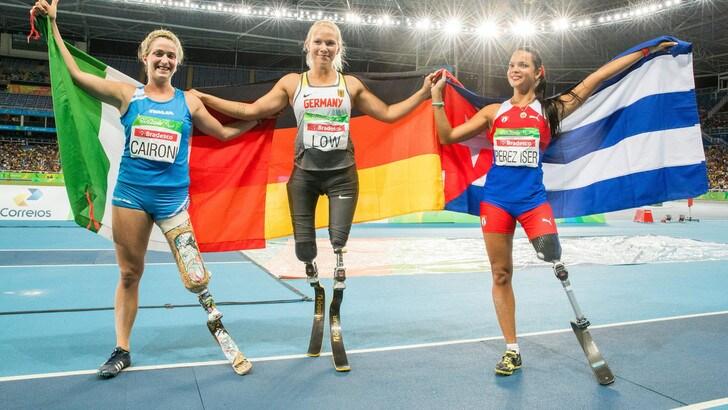 Paralimpiadi: oro per Caironi nei 100 metri, Contrafatto bronzo