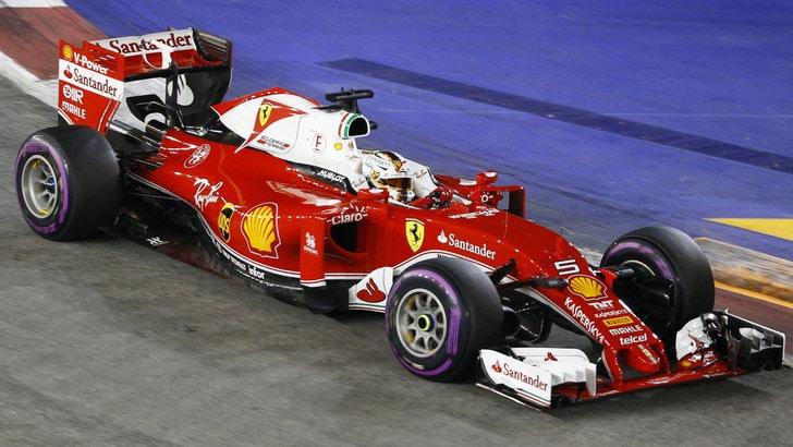 F1 Singapore, Vettel sostituisce motore e cambio