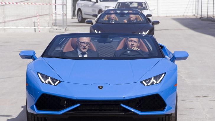 Matteo Renzi in visita alla Lamborghini