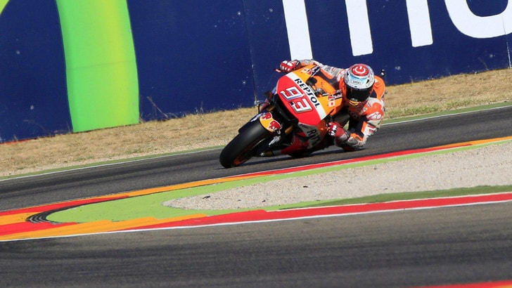MotoGp Aragon: Fp4, Marquez ancora il più veloce, secondo Rossi