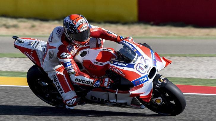 MotoGp Aragon, Dovizioso: «Fatti progressi: la seconda fila va bene»
