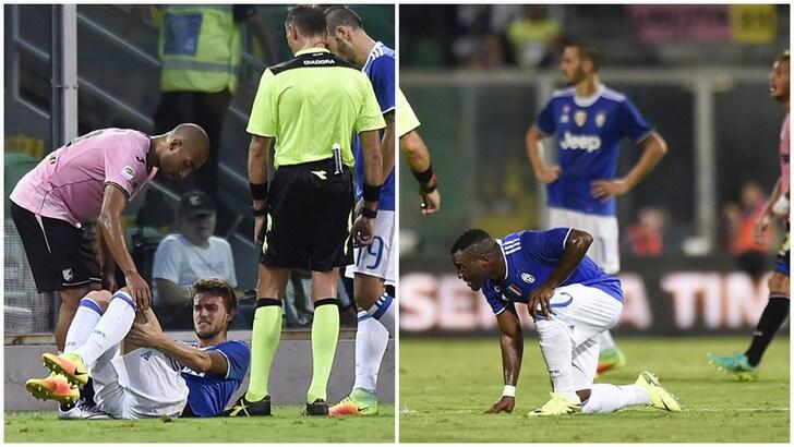 Juventus, Asamoah preoccupa: legamenti? Meno grave Rugani