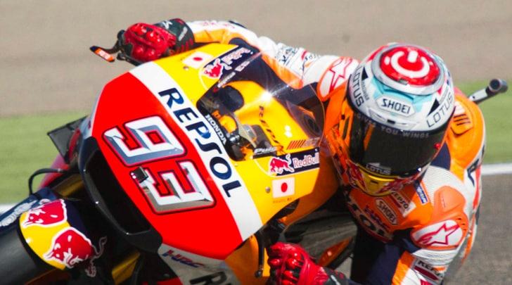 MotoGp Aragon, vittoria a Marquez, spettacolo e terzo posto per Rossi