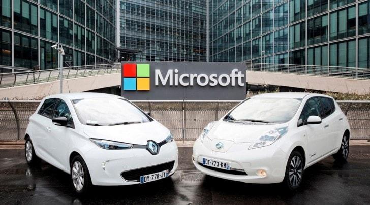 Accordo tra Nissan-Renault e Microsoft per l'auto connessa entro il 2020