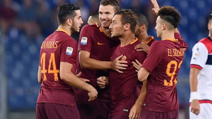 Roma-Astra Giurgiu, finisce 4-0 per i giallorossi. Totti fenomenale