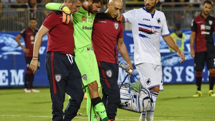 Serie A, il Cagliari ritrova Storari dopo l'operazione al ginocchio