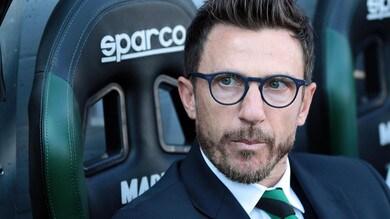 Europa League Sassuolo, Di Francesco: «Peccato. Ma io guardo avanti»
