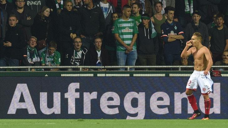 Bundesliga: Mainz ok col Darmstadt, Wolfsburg sconfitto